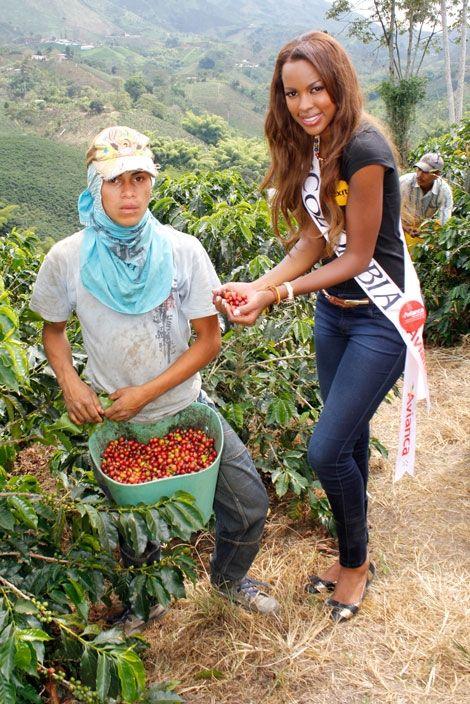 Srita Colombia en visita a zona cafetera