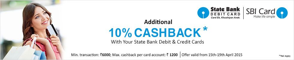 d3c84e272 Get Flat Rs.1250 CashBack on EMI Transactions of Rs.12500   above using SBI  Cards at Snapdeal