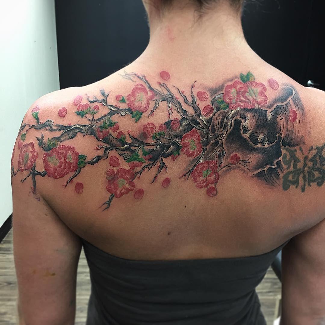 Resultado de imagen para cherry blossom tattoo pinterest