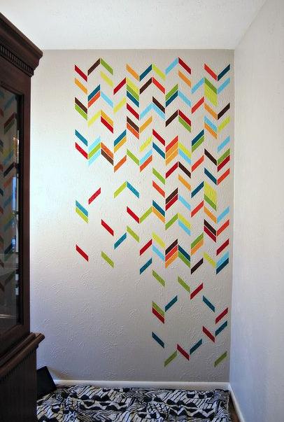 10 Idees Avec Du Masking Tape Deco Mur Motifs Mur Au