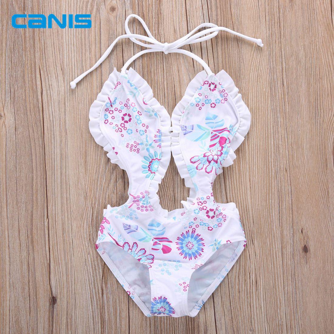 6687309d2 girls one piece swimwear bikini children's swimwear girls bathing suits  baby Floral swimming suit girl swimwear beachwear #Affiliate