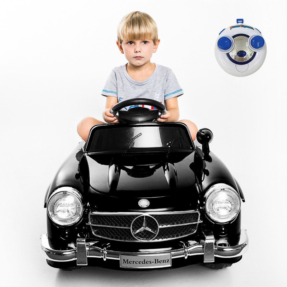 Toys car for baby  cool Awesome New Black Mercedes Benz SL AMG RC Electric Toy Kids
