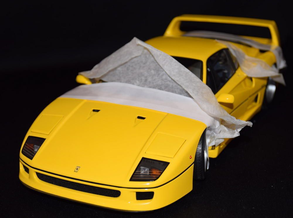 Kyosho 1 12 Ferrari F40 Yellow 08602y Ferrari F40 Vehicles