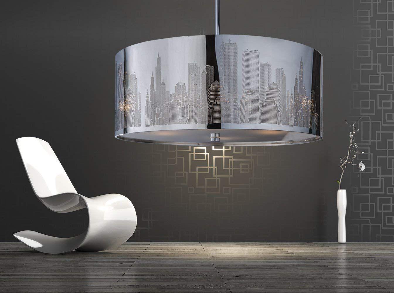 Xxl Skyline Luxus Hangelampe Hangeleuchte New York Deckenlampe Lampe 50cm Lounge Wohnzimmer Esszimmer Schlafzimmer Lamp Hanging Lights Home Decor