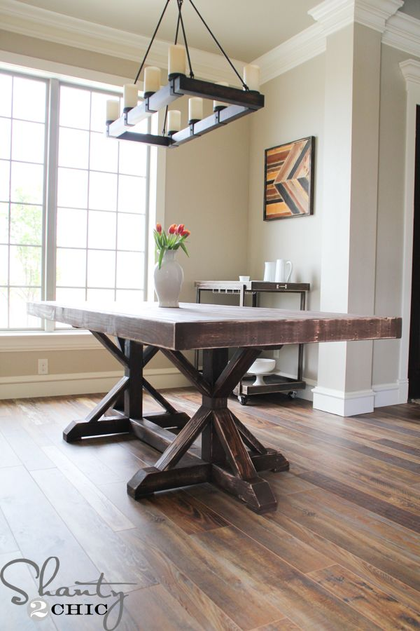 Free Dining Room Table Part - 31: DIY Restoration Hardware Inspired Table With Free Dining Table Plans