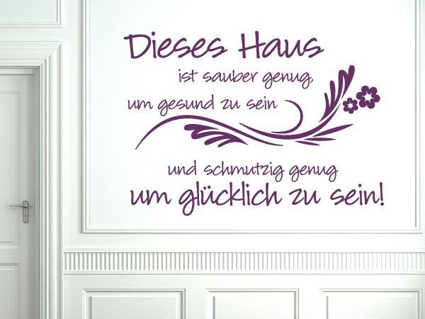 Wandtattoo Dieses Haus Spruche Wandspruche Wandtattoos Spruche