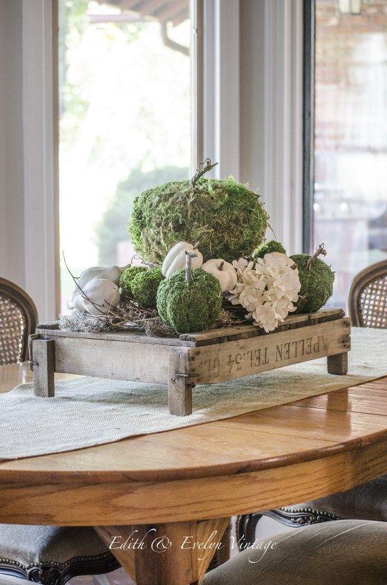 moss pumpkins fall pinterest herbst dekoration herbst und deko herbst. Black Bedroom Furniture Sets. Home Design Ideas