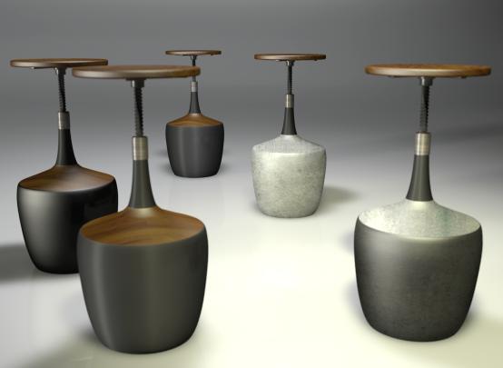 Chime Adjustable Stool - antony gibbon designs