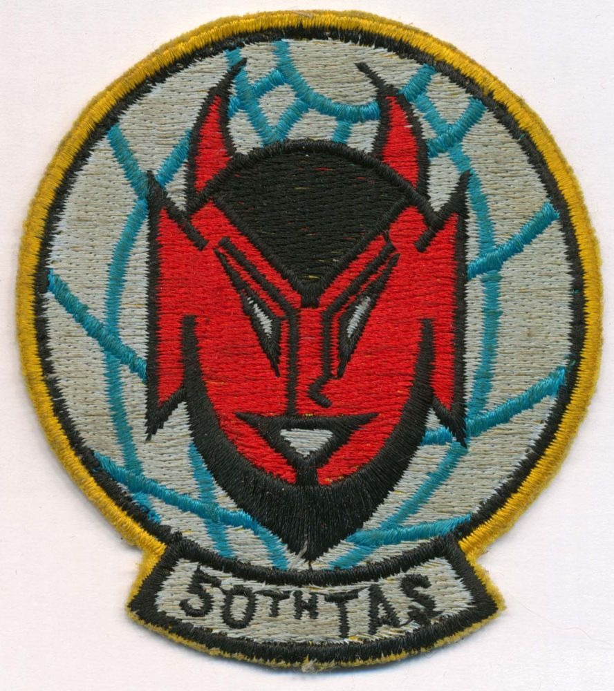Vintage 50th Tactical Airlift Squadron Patch USAF United