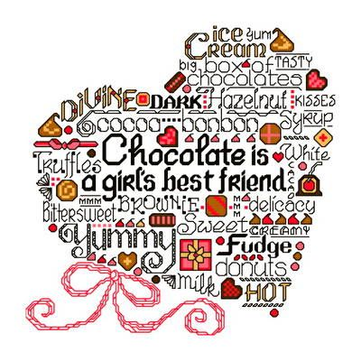 Image result for cross stitch let's eat chocolate