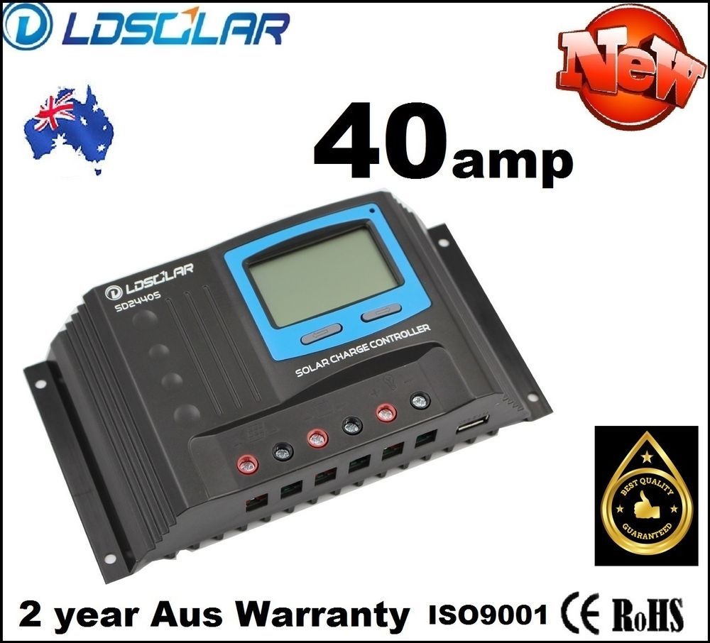 Ldsolar 40a Solar Regulator 12v 24v Battery Charge Controller Details About 30a Pwm 30amp 40 Amp Panel Lcd Log Status Usb