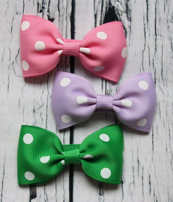 3 Girls Hair Bows for Babies Toddlers and Kids by littleonesnest