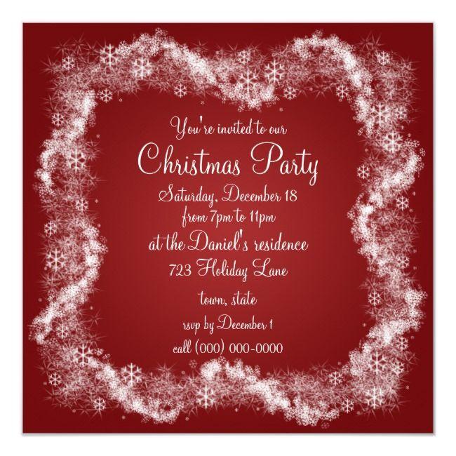 Red Christmas Party Invitations Holiday Xmas    Red Christmas Party Invitations Holiday Xmas Affiliate