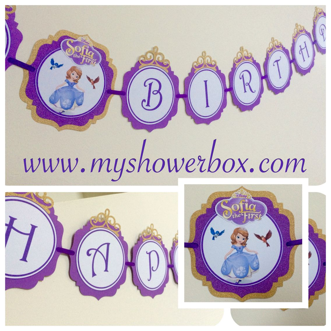 Sofia The First Birthday Banner # Www.myshowerbox.com