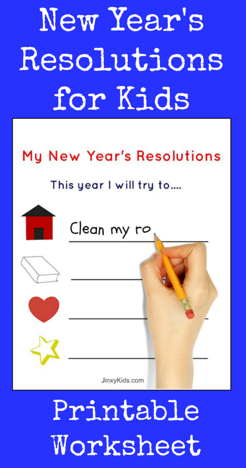 This FREE Printable New Year's Resolutions Activity Sheet