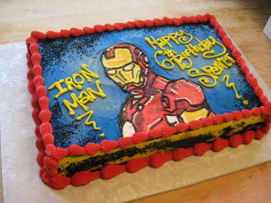 Iron Man Cake by ohnoono on deviantART Party Ideas Pinterest