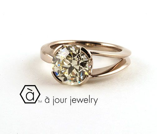 A Jour Jewelry, Engagement ring, Asymmetrical engagement | Jewelry ...