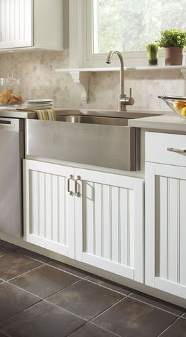 Stainless Apron Front Sink Kitchen Cabinet Styles Contemporary Kitchen Cabinets Contemporary Kitchen