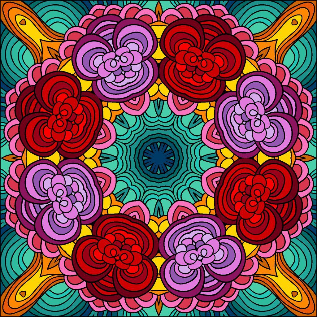 Happycoloringbook Colorful Colors Coloringbook Via Happy Color App For Ipad Happycolorapp Colorful Art Coloring Book App Mandala Art