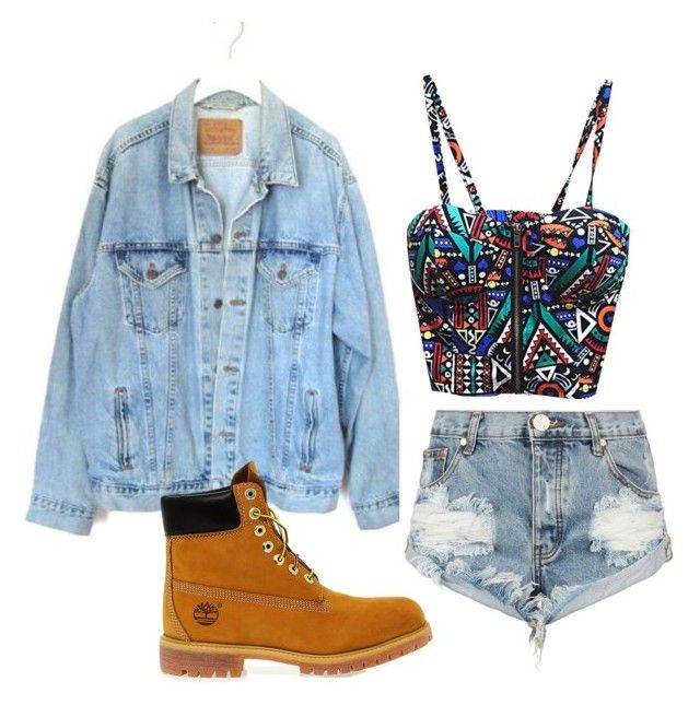 """""""Untitled #19"""" by kailynmelissa-1 on Polyvore featuring Levi's, One Teaspoon and Timberland"""