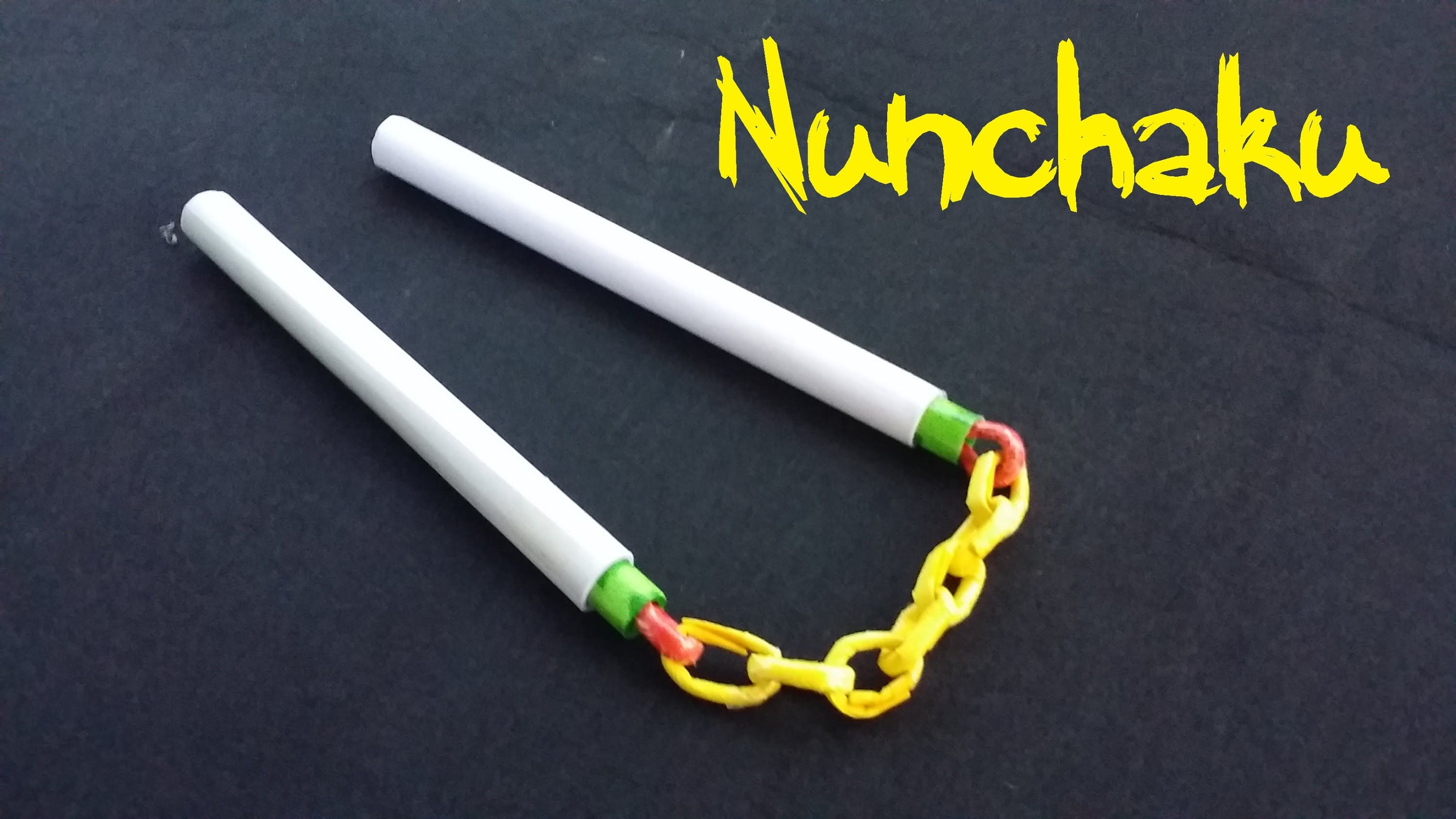 How to make paper nunchuck: master class 11