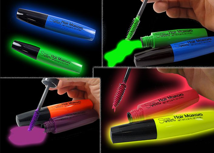 Neon Black Light Hair Mascara (Indiviual Colors)
