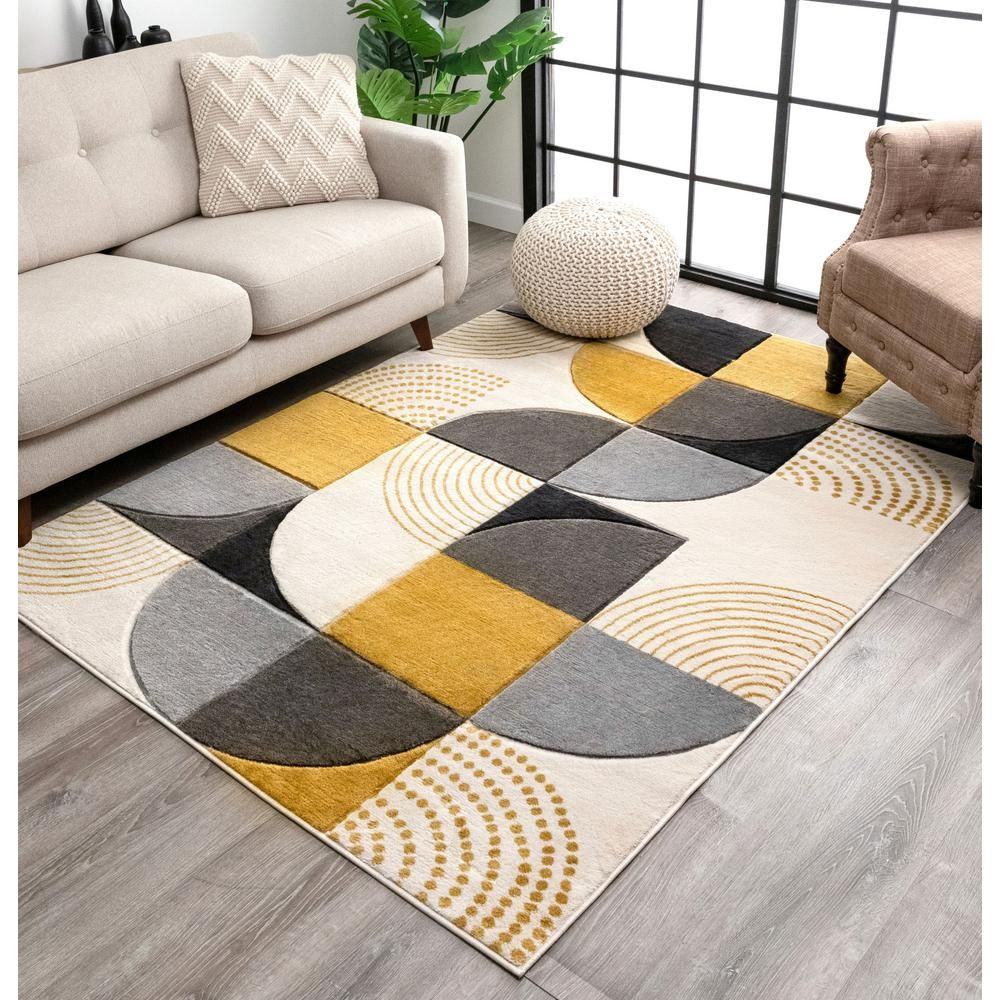 Amazon.com: Well Woven Alli Geometric Grey Modern Abstract