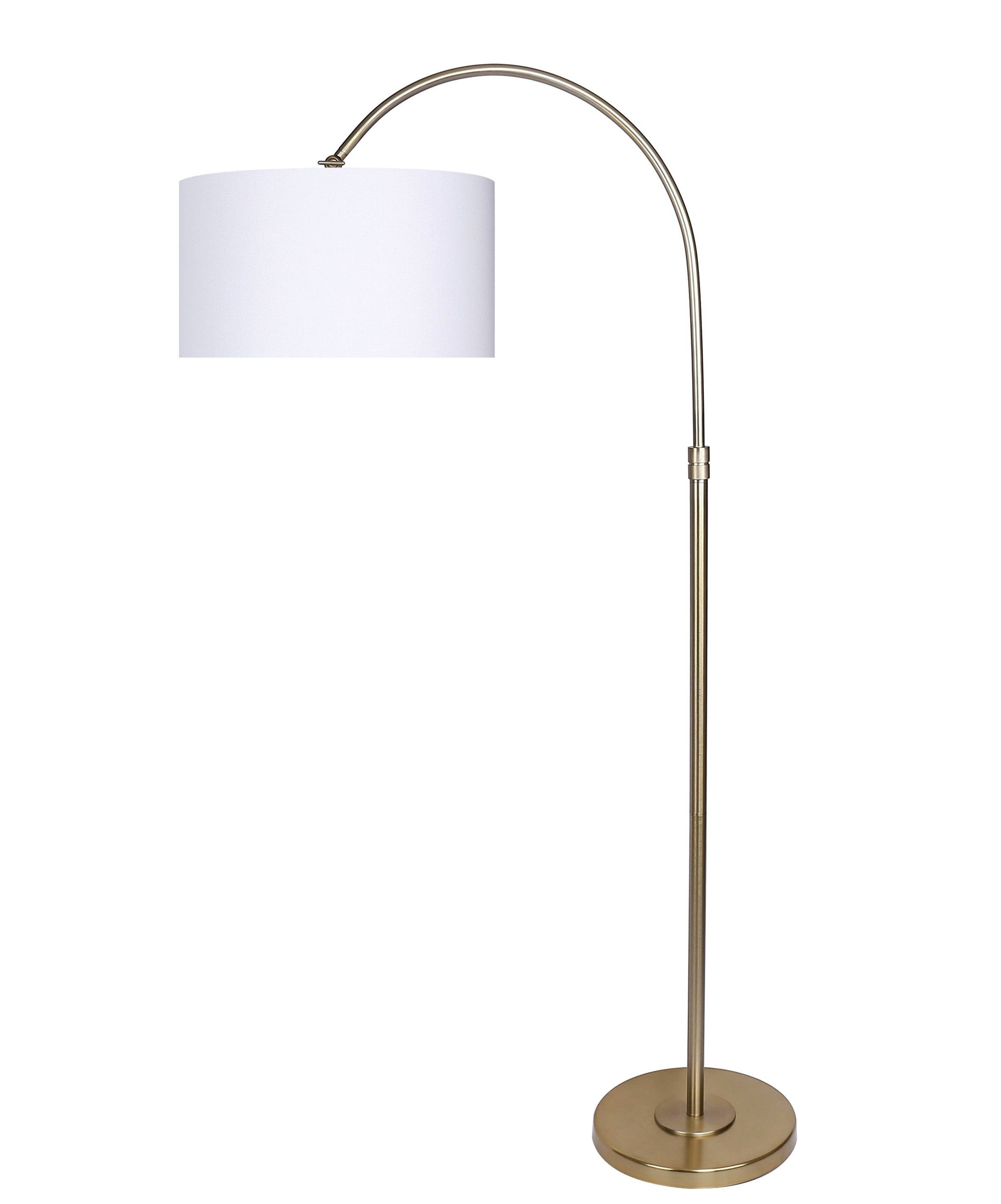 """Mineo 64"""" Arched/Arc Floor Lamp in 2020 Modern gold"""