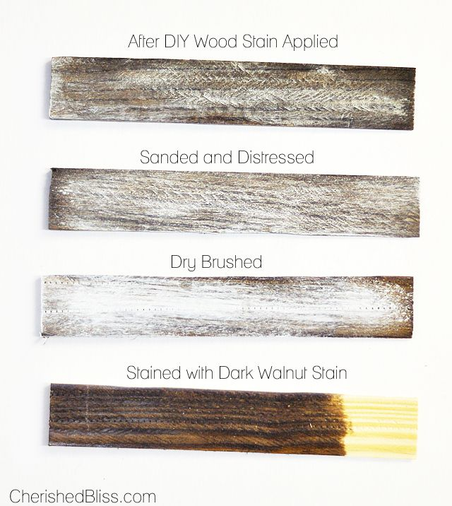 How to make white painted wood look rustic