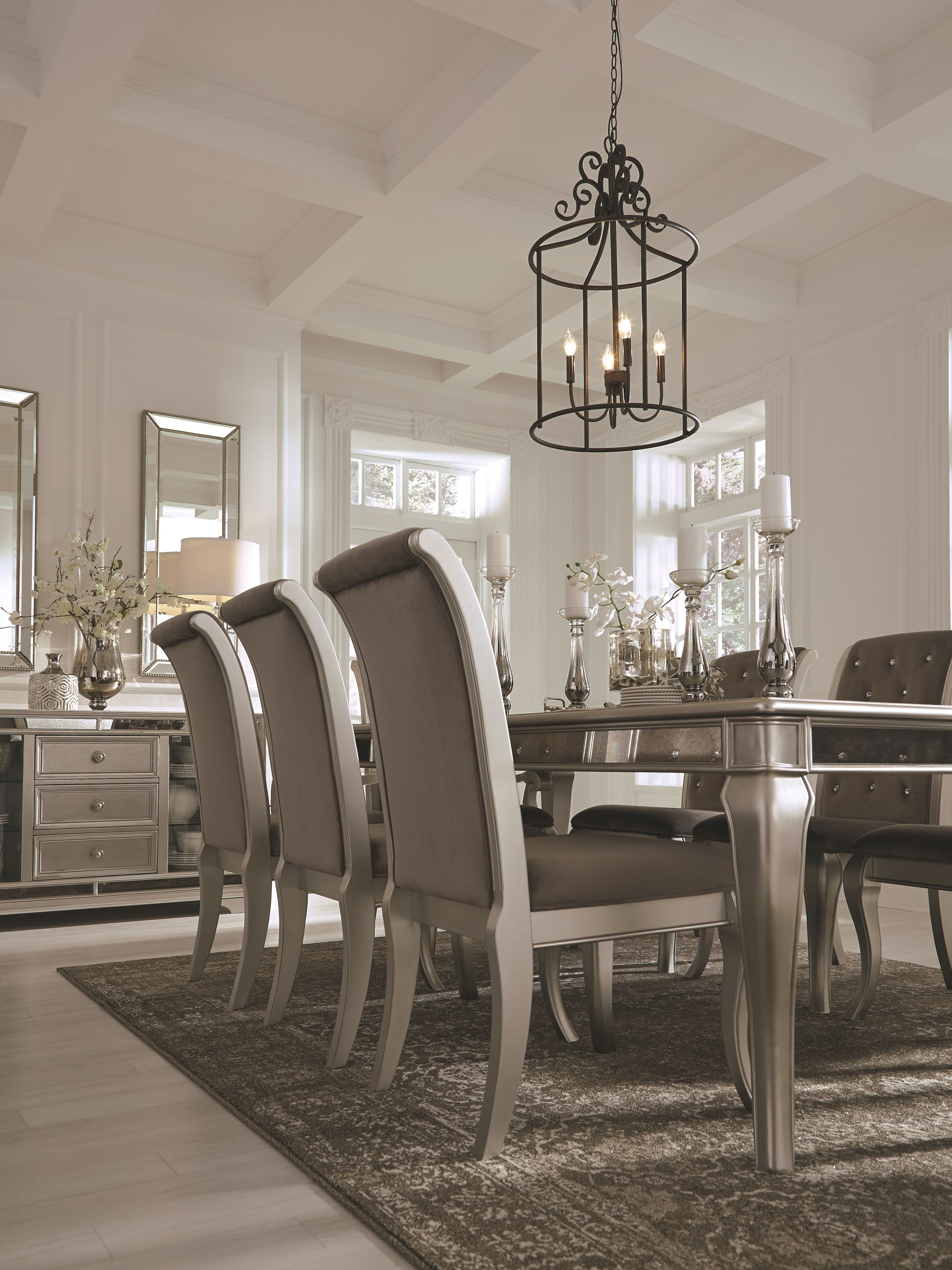 low priced 19b60 2b501 Birlanny Dining Room Table, Silver | Products in 2019 ...