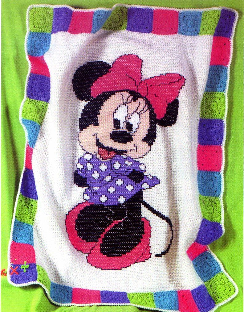 minnie mouse | Battaniyeler | Pinterest | Stricken decken, Diy ...