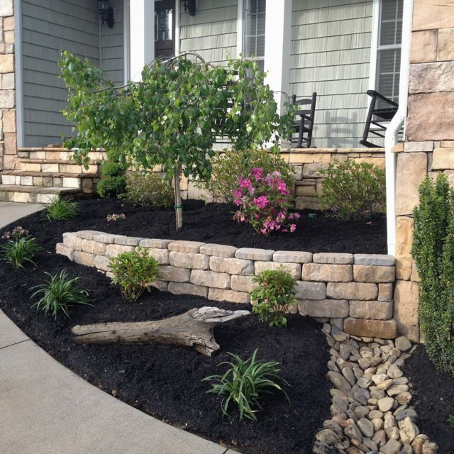 15 Incredible Front Yard Rock Garden Landscaping Ideas You: This Wall Is Going To Wash Out At The Bottom. The Base