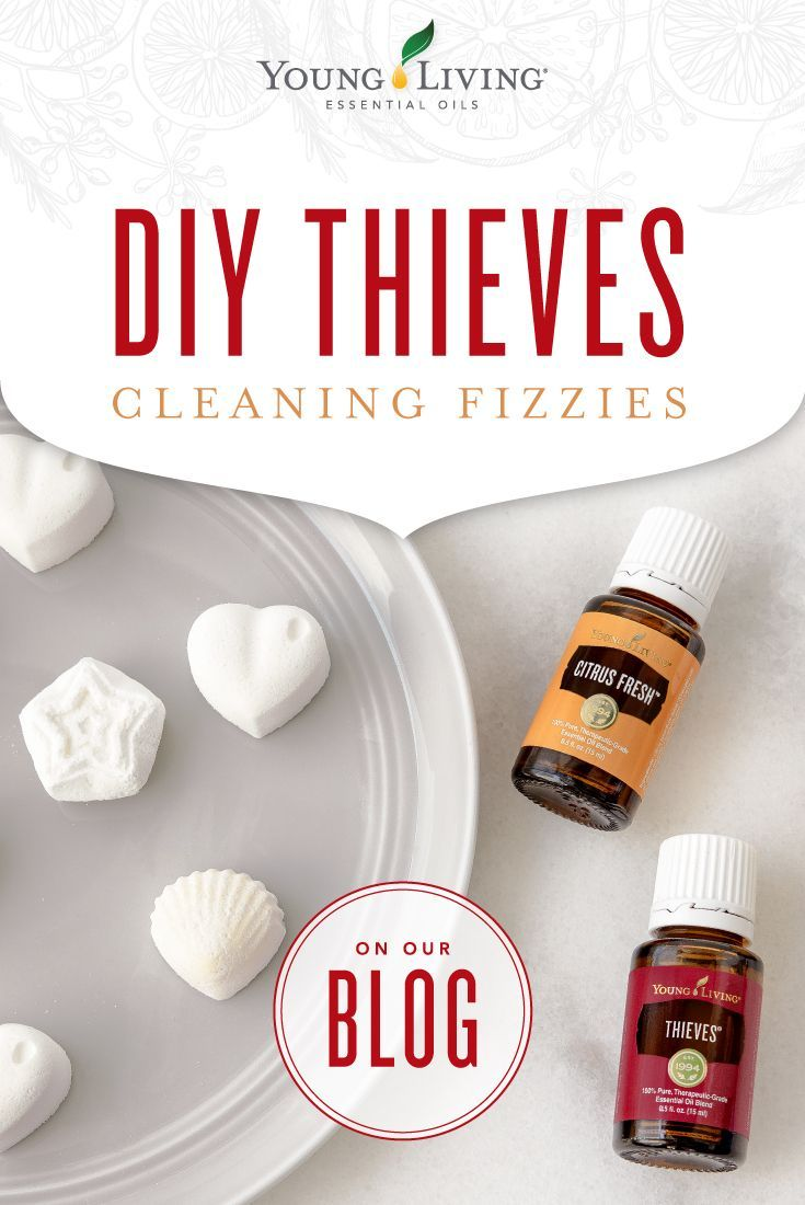 Diy thieves cleaning fizzies essential oils cleaning