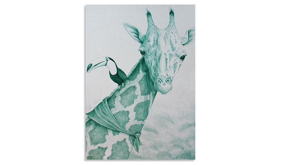 MONOQI   Green Giraffe with Friend