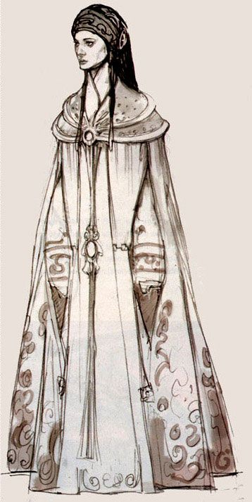 Padmé peacock dress concept art