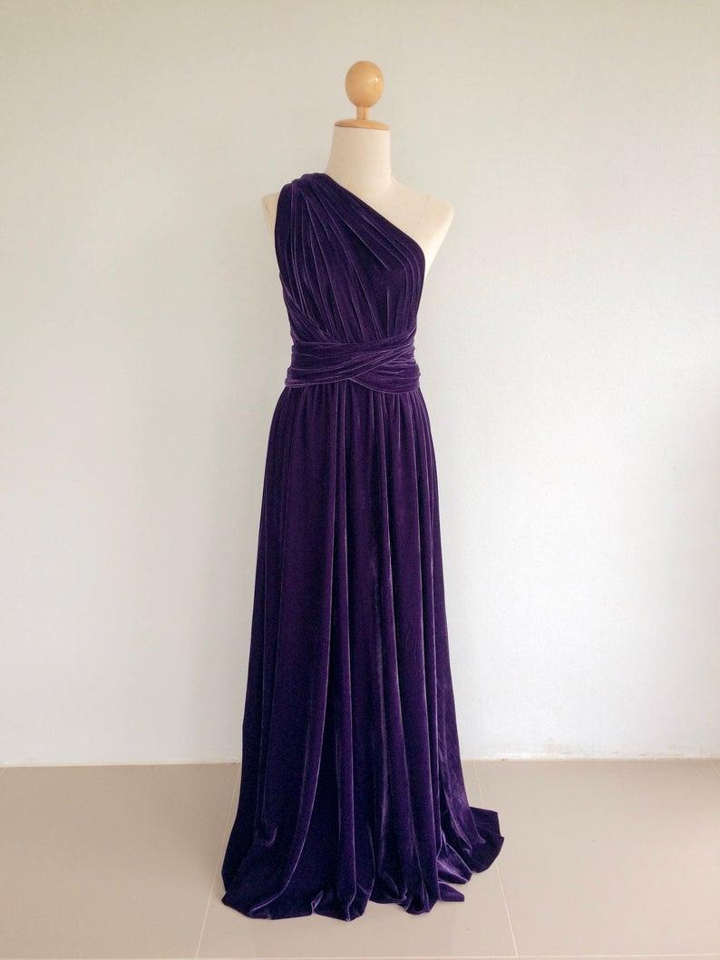Plus Size Purple Velvet Dress Bridesmaid Dress Maxi Infinity Etsy Velvet Bridesmaid Dresses Velvet Prom Dress Purple Bridesmaid Dresses [ 1059 x 794 Pixel ]