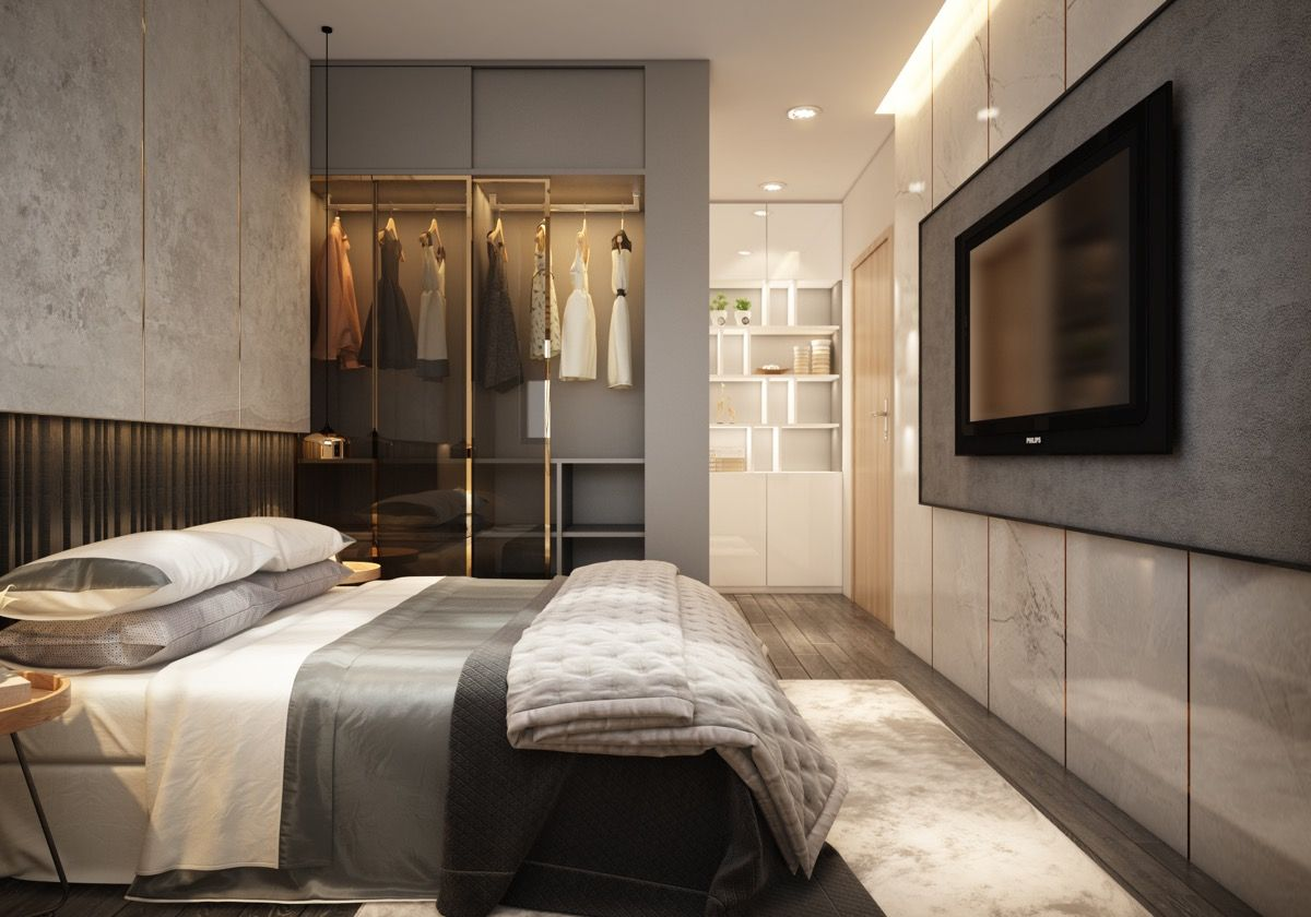 Small Modern Apartment Design With Asian And Scandinavian Influences Modern Apartment Design Apartment Design Modern Apartment Modern apartment bedroom ideas