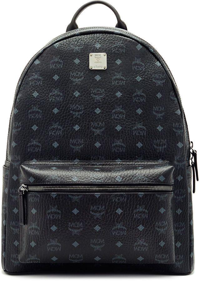 ed0db052f MCM Stark Backpack In Visetos   bag in 2019   Backpacks, Large black ...