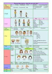 english worksheet physical description vocabulary. Black Bedroom Furniture Sets. Home Design Ideas