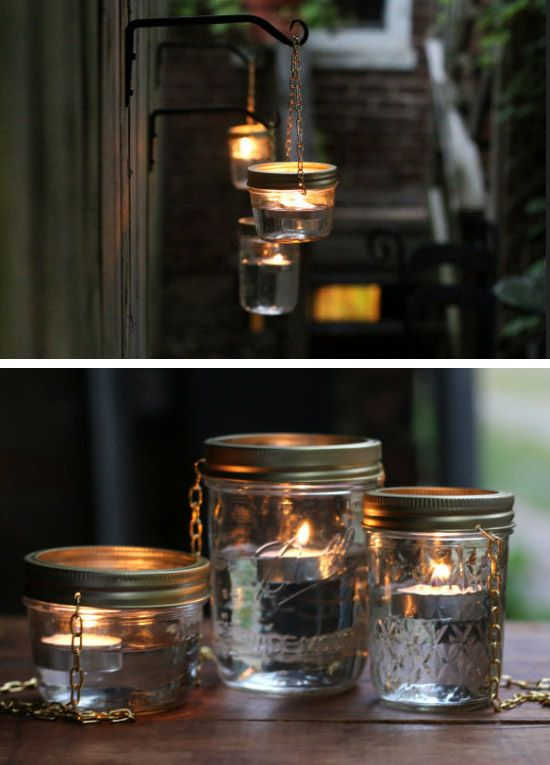 DIY Hanging Mason Jar Lights | Click Pic for 24 DIY Garden Lighting Ideas | DIY Outdoor Lighting Ideas