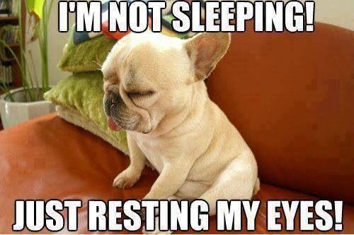 He's not sleeping, ok?