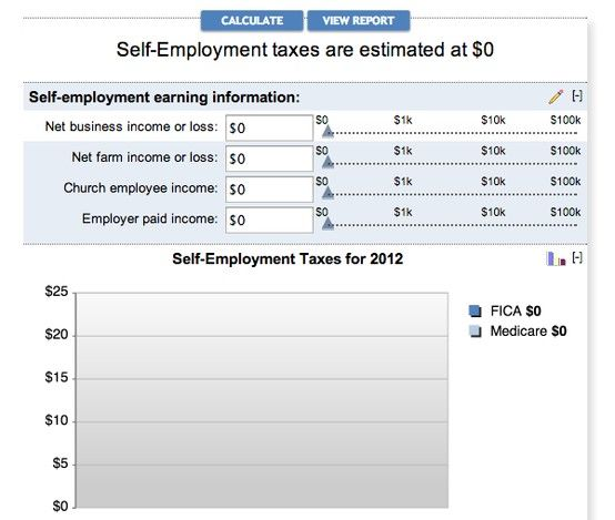 Self Employment Tax Calculator  Craft Biz