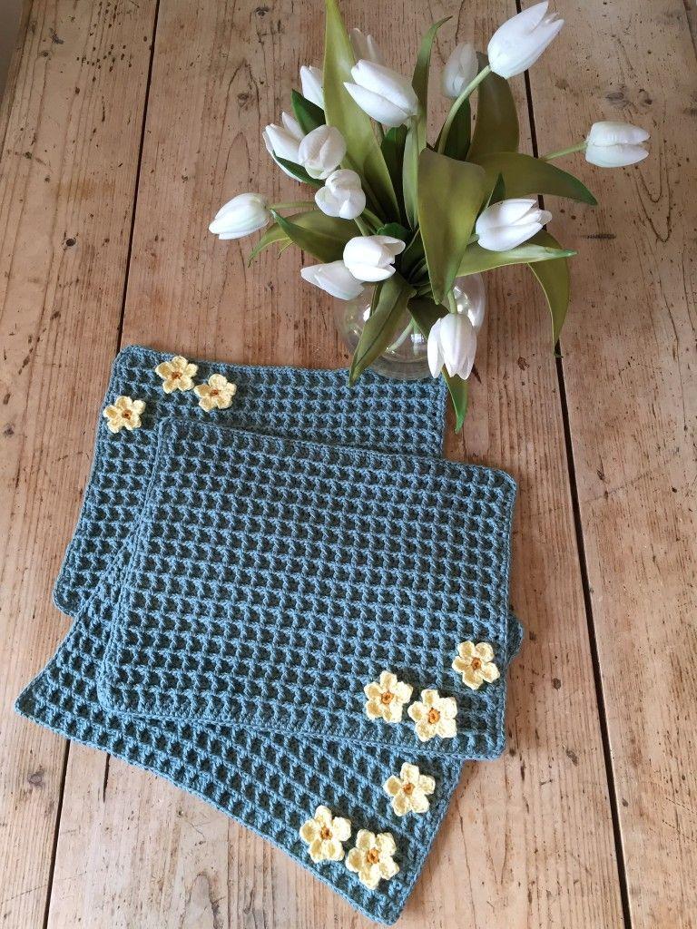 Crochet Club Primrose Placemats Sewing Crocheting Knitting