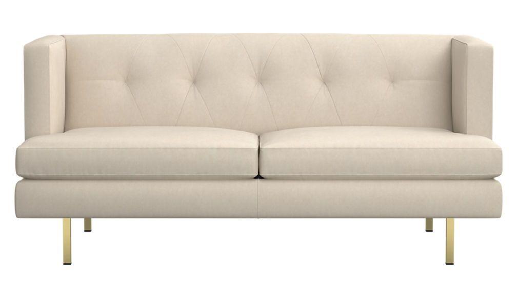Avec Apartment Sofa With Brass Legs Retro Sofa Modern Sofa Sofa