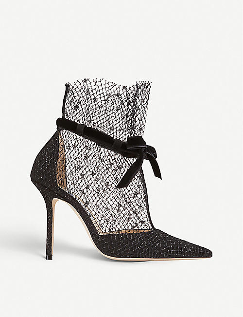 Suede ankle boots, Jimmy choo
