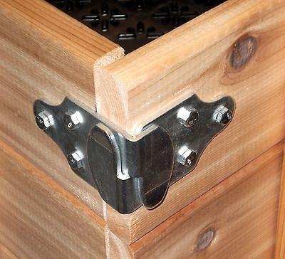 Details About Wood Sides Latch Rack Stake Body Gates Corner Brackets Pk Sb 1 Set 4 Pc Woodworking Wood Utility Trailer