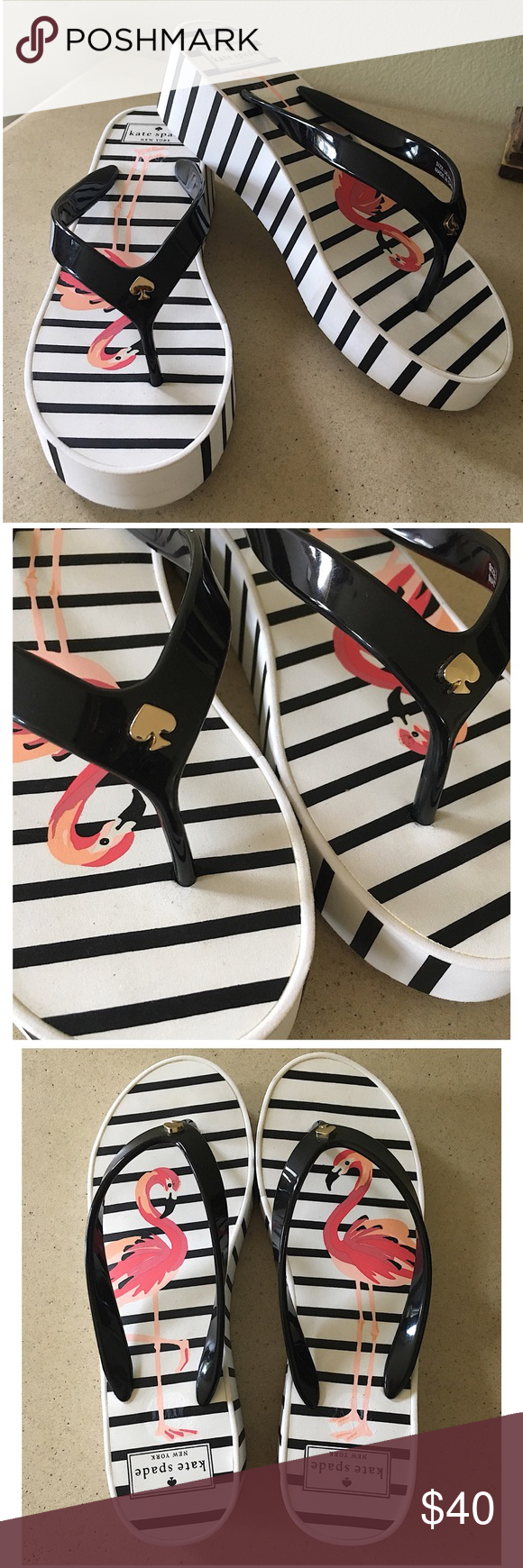cd87c10ffc22 KATE SPADE NEW YORK REMMIE WEDGE FLIP FLOPS NWOT- Kate Spade New York  Remmie Platform