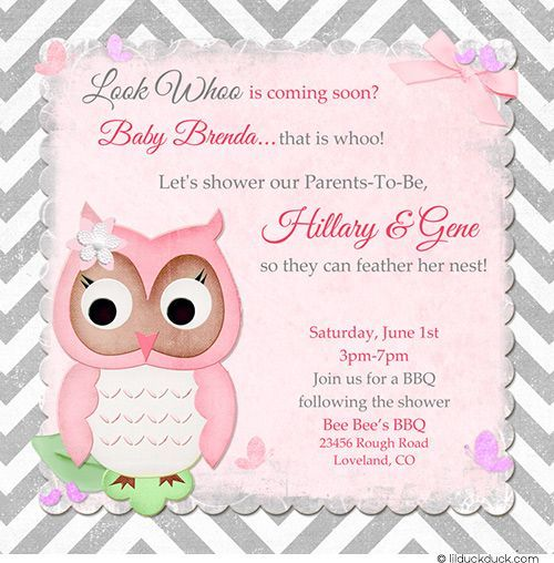 Owl Baby Shower Invitation Wording Ideas Babies Parties Baby