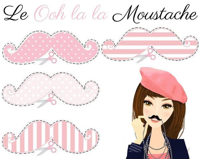 DIY Moustache Knip je eigen Ooh la la snor uit.  http://www.oohlala.nl