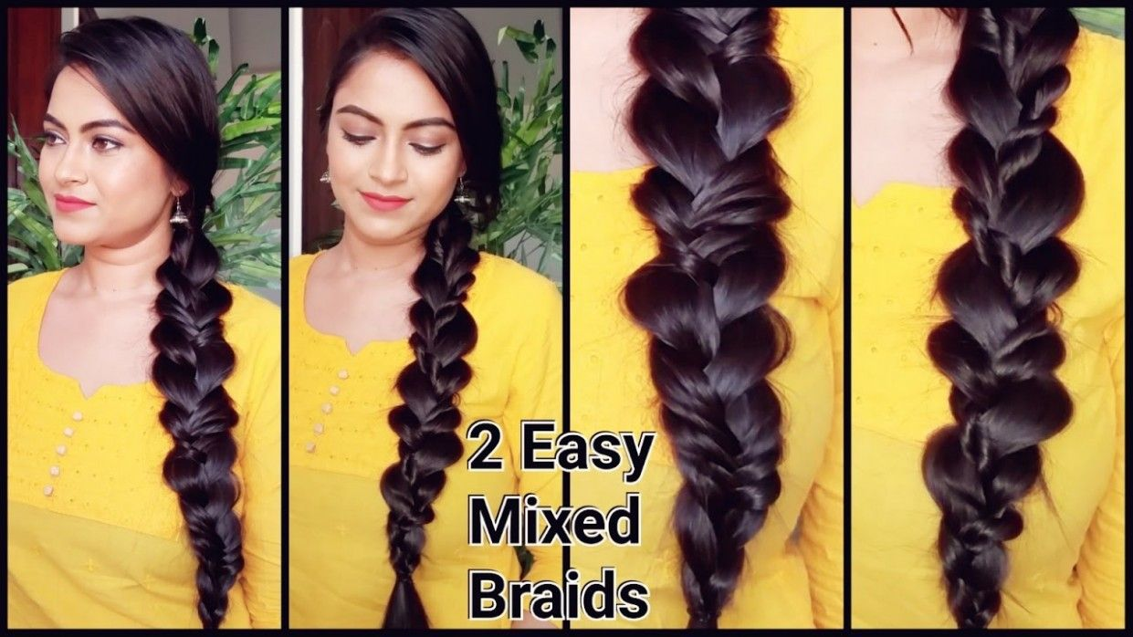 Easy Hairstyle Video In Hindi In 2020 Easy Hairstyle Video Hair Styles Easy Hairstyles